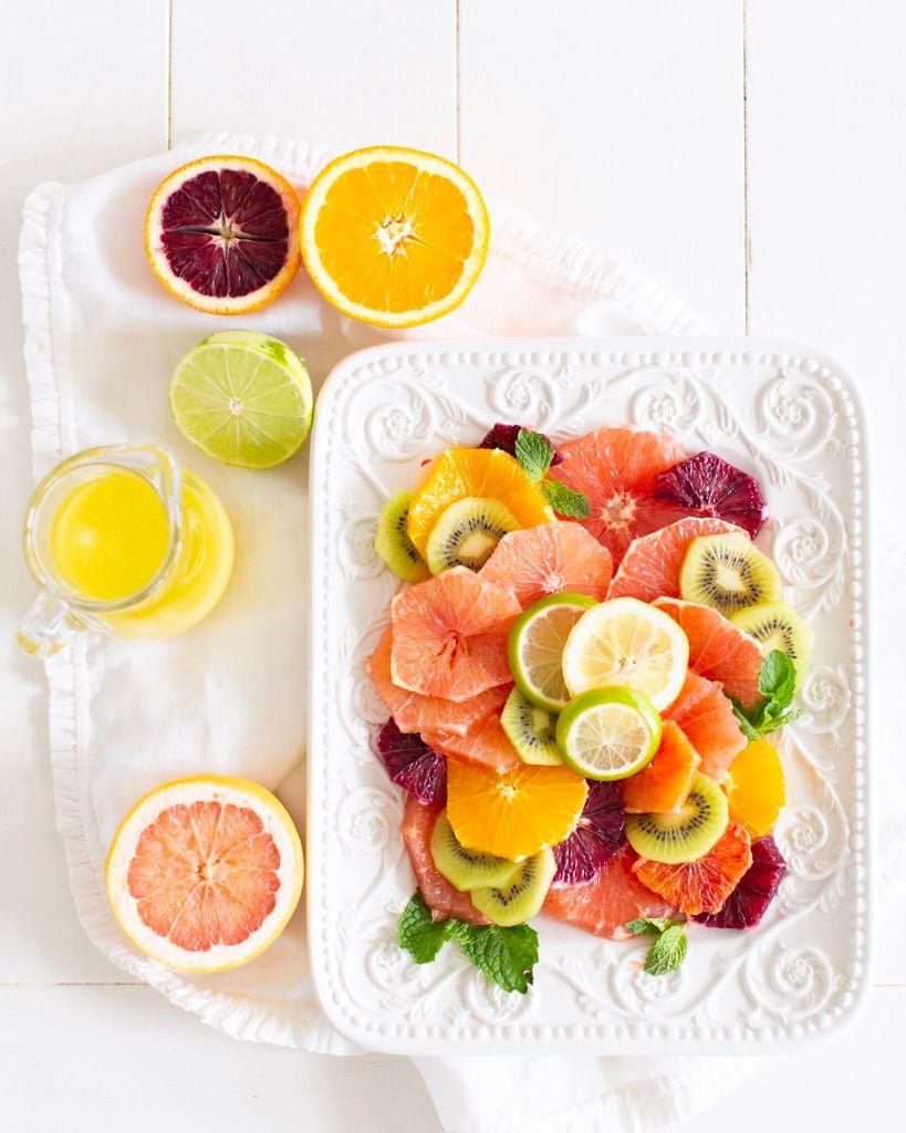 Mixed Citrus Kiwi Salad with Honey Lime Vinaigrette