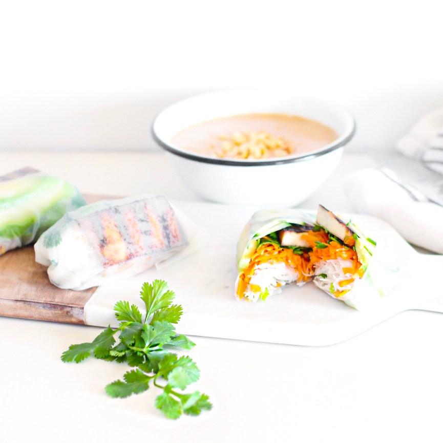 Crispy Tofu Salad Rolls
