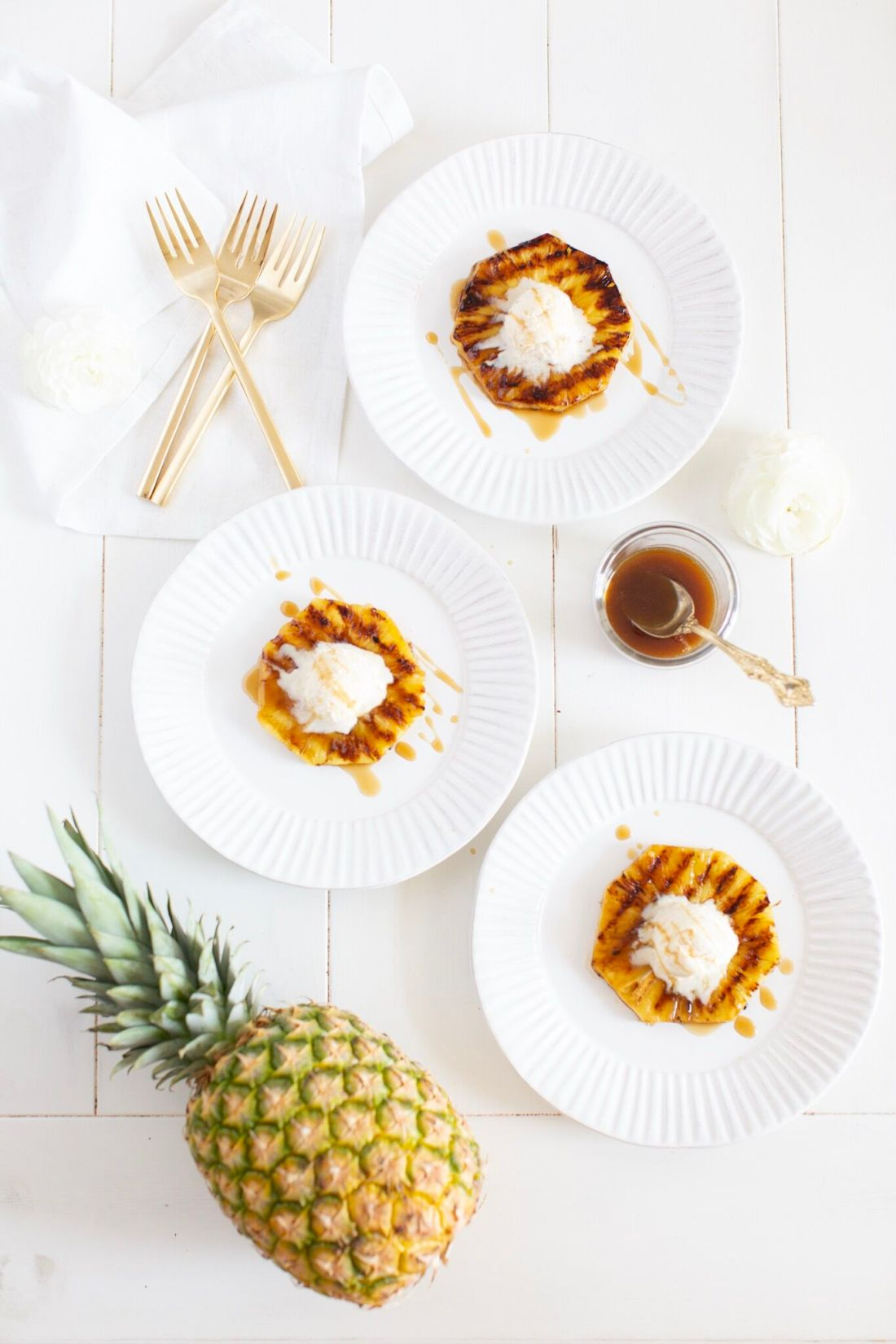 Rum Soaked Grilled Pineapple