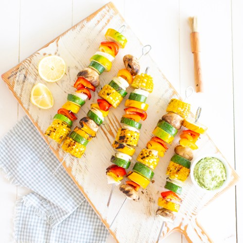 Grilled Vegetable Skewers with Herbed Butter