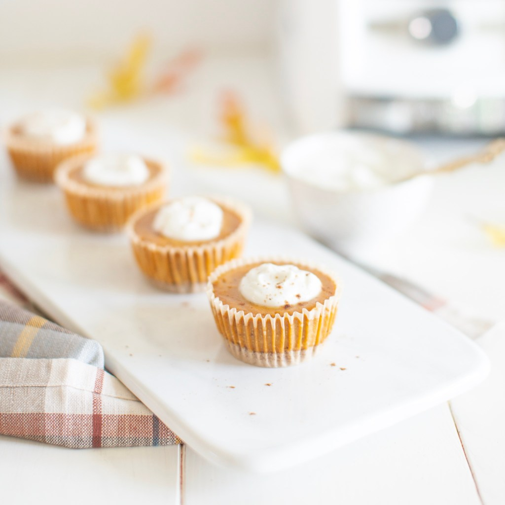 Mini Dairy Free Pumpkin Cheesecakes