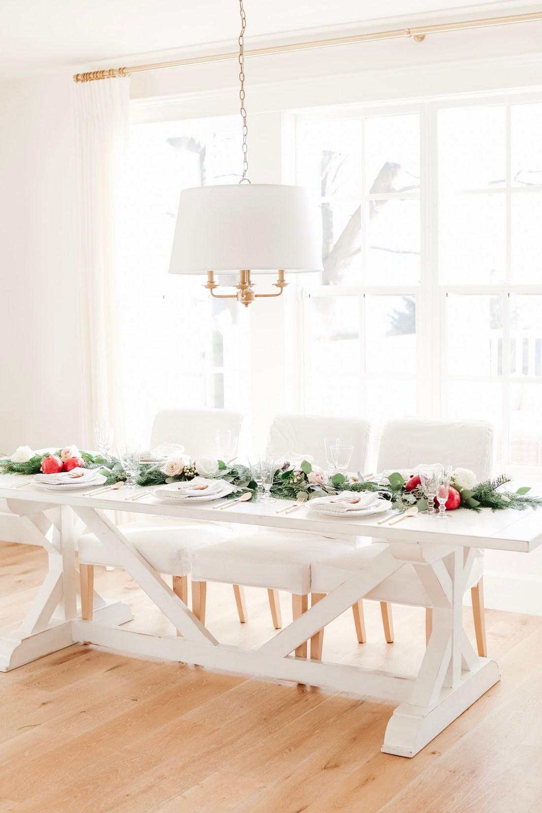 Fraiche table: Christmas Dinner
