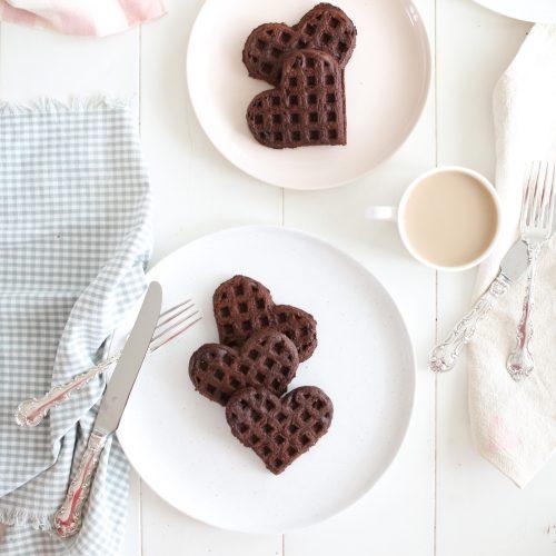 Healthyish Chocolate Waffles (vegan)