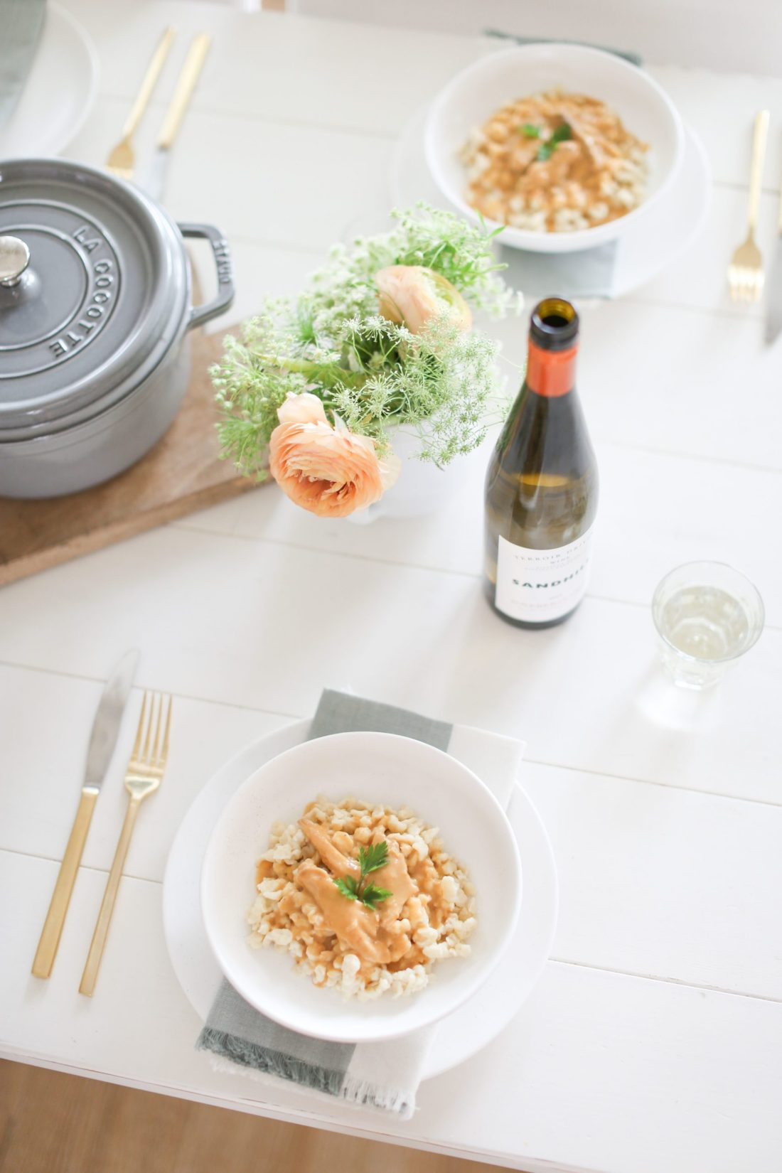 Chicken Paprikash with the perfect wine pairing from Tori Wesszer at FraicheLiving.com
