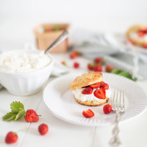 Strawberry Shortcakes (vegan option)