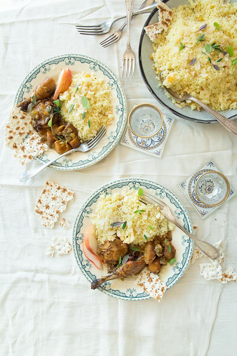 Tajine de faisan aux coings, semoule aux amandes ©Fraise & Basilic