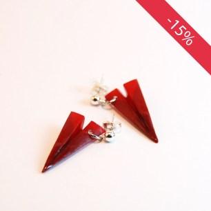 Avions rouges - Boucles d'oreilles