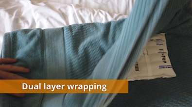 Dual layer wrapping example for ice packs (2 of 2)