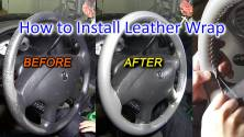 How to install a Steering Wheel Cover - Stitch a Steering Wheel Wrap to restore like New!