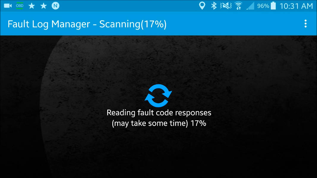 Torque app scanning for fault codes