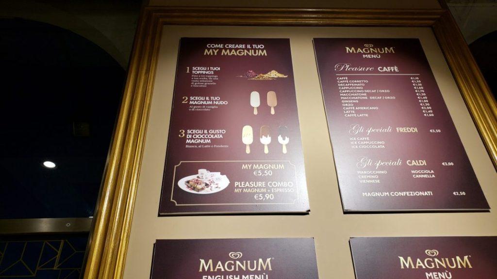 Magnum ice cream customization instructions