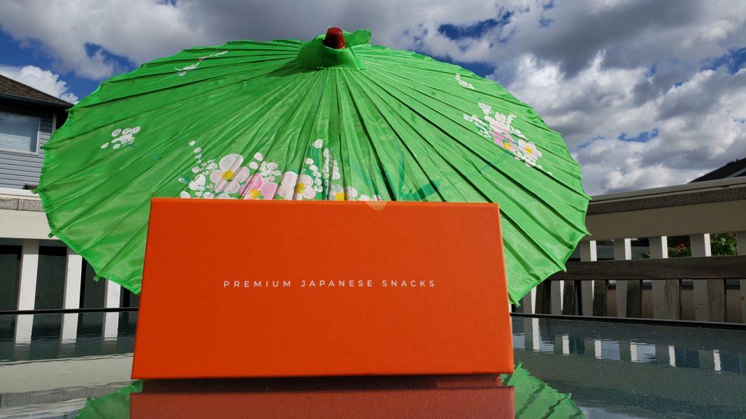 Bokksu box with umbrella