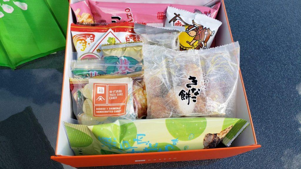 Bokksu - Seasons of Japan box opened