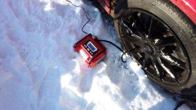 12V Tire inflator for car emergency kit