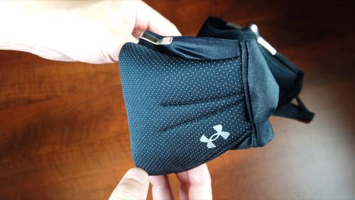 UA SportsMask with mod to stop air leak (Side profile)