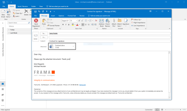 How to do electronic signatures in Outlook  Frama RMail