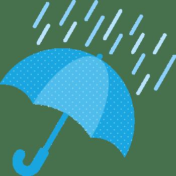 雨天(雨の天気)マークのイラスト | 無料フリーイラスト素材集【Frame illust】