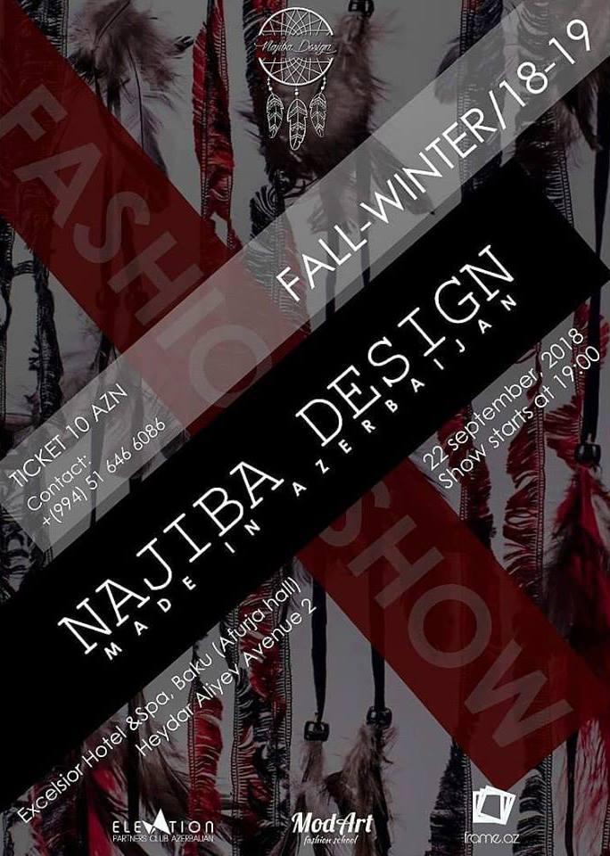 Najiba Design brendinin moda nümayişi keçiriləcək
