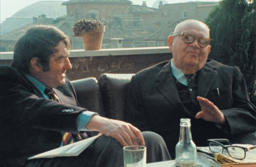 Claude Lanzmann with Benjamin Murmelstein in The Last of the Unjust