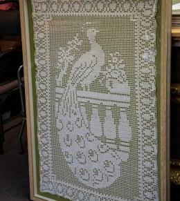 A filet crochet antique.