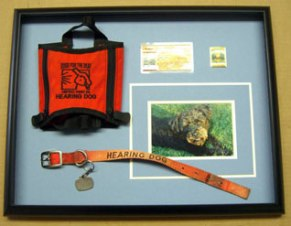 This little box commemorates the life of a special working dog who was dedicated to serving his deaf owner.
