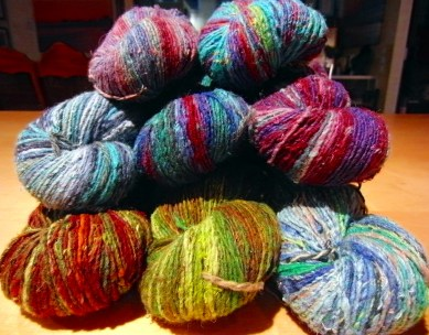 New to the Yarn Shop is Souk a Silk and Wool blend.