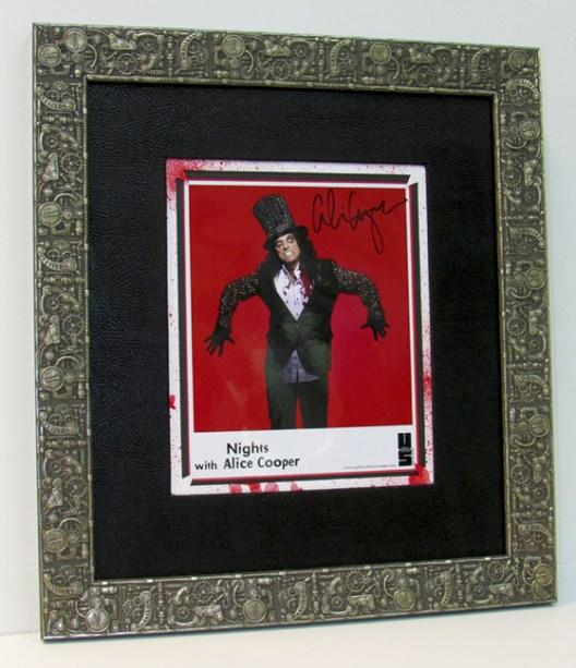 Alice Cooper custom framed at The Frame & I in Prescott