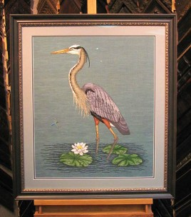 Blue Heron Needlepoint