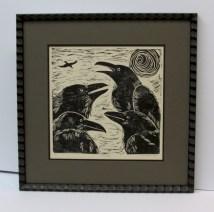 Raven Woodblock