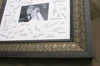 wedding signature photo mat prescott picture framer