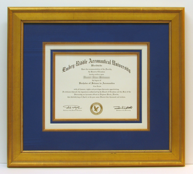frame embry riddle diploma