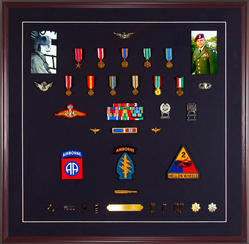 Medal Display Case Military Medals With Ribbons Patches And Ph