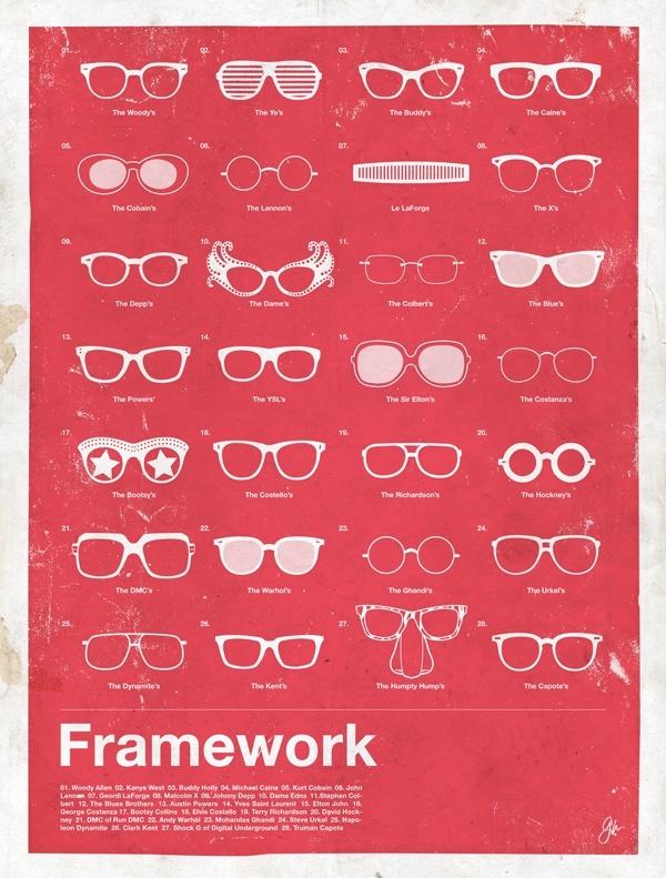framework glasses Framework   Eyewear Made Famous Posters