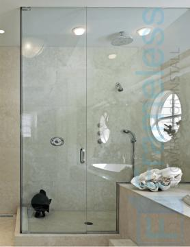 82 Custom Frameless Glass Enclosure Shower Door Installation Replacement 1