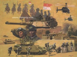 """THE 10TH U S CAVALRY RIDES AGAIN Operation Iraqi Freedom March 2003 - March 2004 Image size 18.5 X 25"""" In stock and available Current price - $175"""