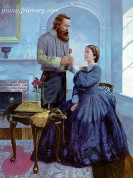 A FAREWELL ROSE by Dale Gallon Dundee Plantation, Va., August 15, 1862 Maj. Gen. J.E. B. Stuart bids farewell to his wife. In stock and available Issue price - $200