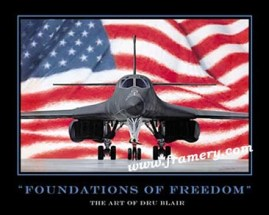"""FOUNDATIONS OF FREEDOM by Dru Blair Poster - Not signed 24 X 30"""" In stock and available - $45"""