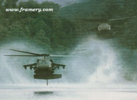 """RIVER HAWKS by Dru Blair UH-60 Blackhawks Signed only 24 X 30"""" In stock and available - $65"""