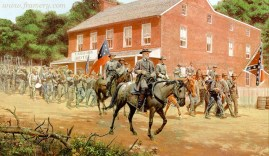 DISTANT THUNDER Gen. Lee at Cashtown, July 1, 1863. Image size: 17.5 X 29 In stock and available Current Price - $200