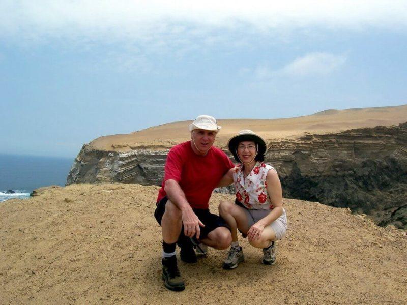Jean and bob at National Reserve of Paracas - Peru