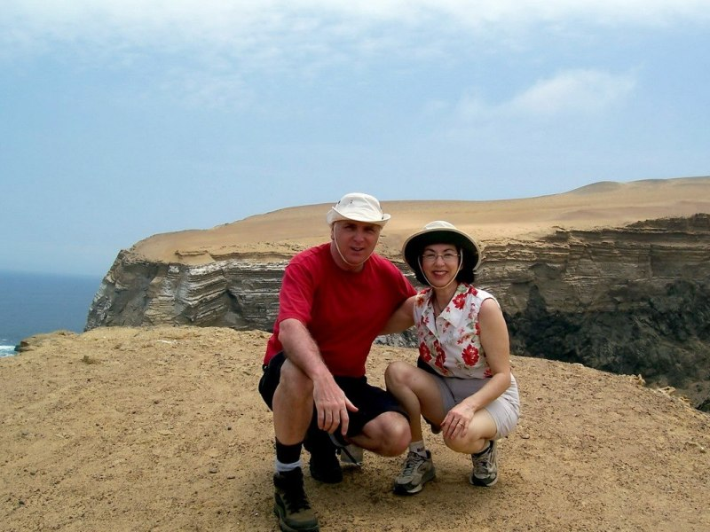 Jean and bob at National Reserve of Paracas - Peru