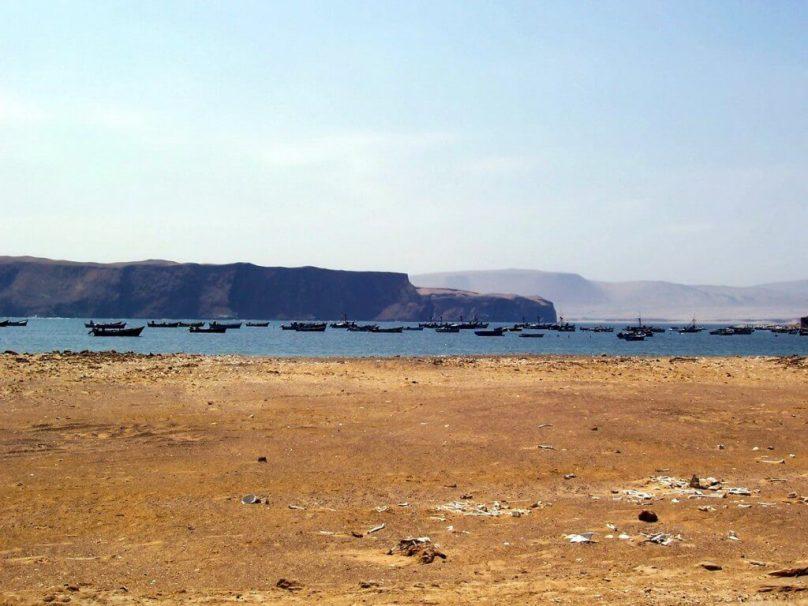 Lagunillas seaside fishing village in the National Reserve of Paracas - Peru