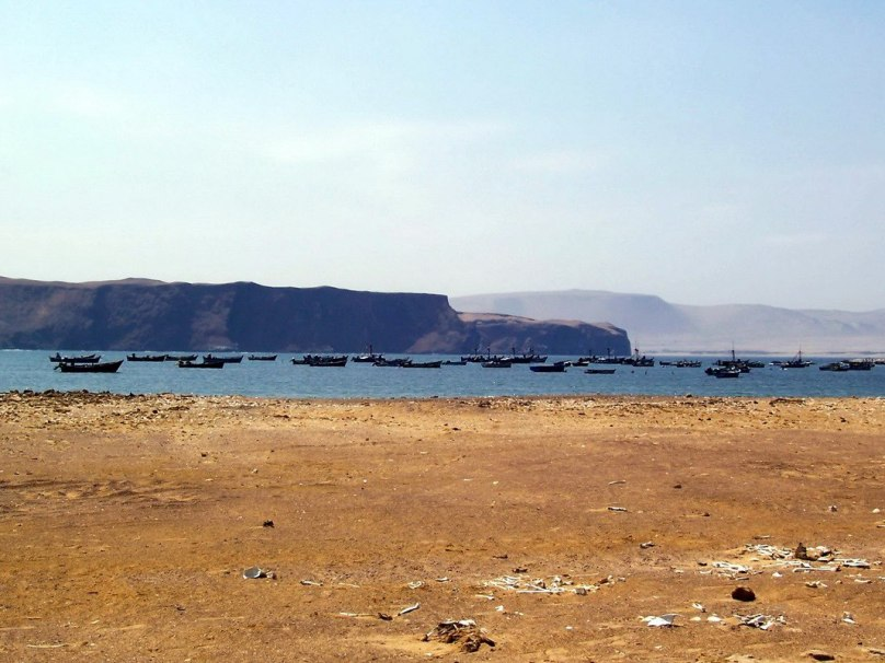 Lagunillas seaside fishing village in the National Reserve of Paracas - Peru