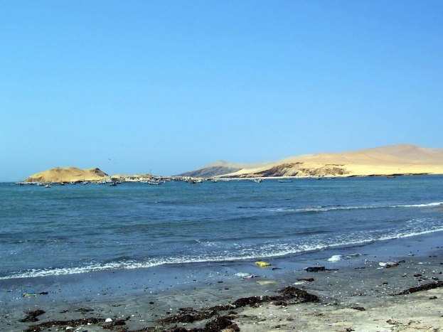 Playa Lagunillas in Paracas National Reserve, Ica, Peru.