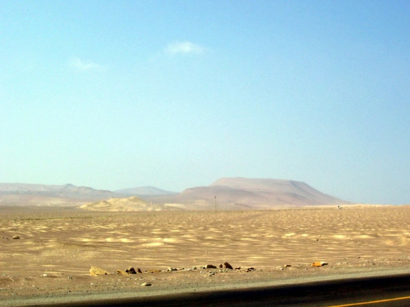 Tropical desert at Paracas National Reserve on the Paracas Peninsula, Ica, Peru.