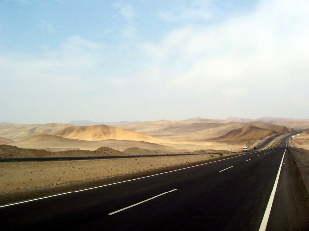 Pan American Highway south of Lima, Peru