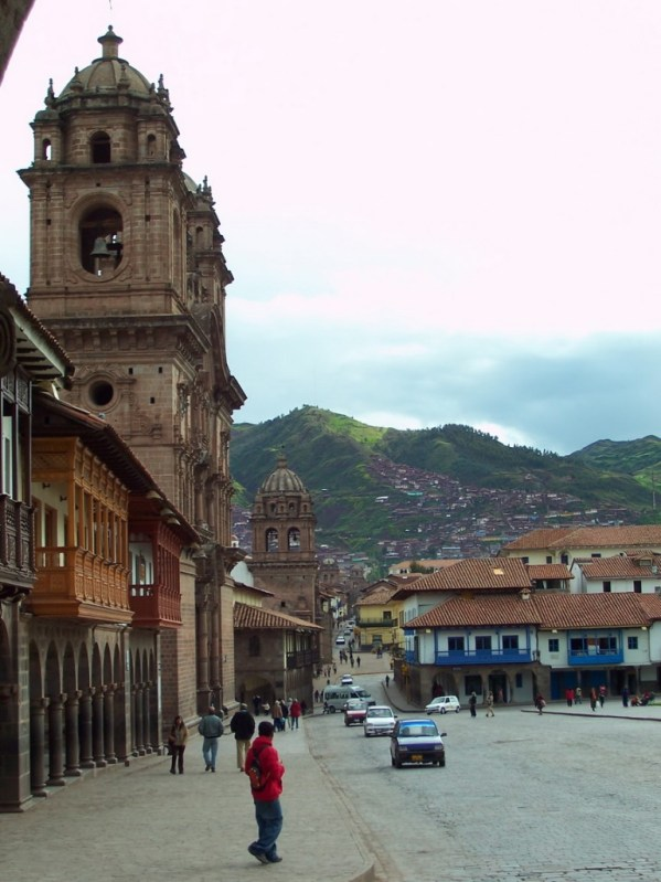 Early morning traffic in Cusco, Peru, South America