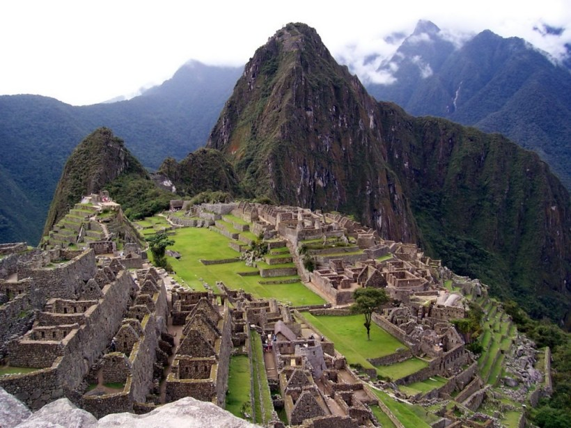An image of Machu Picchu in Urubamba Province, Peru.