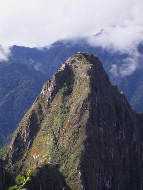 Huayna Picchu mountain at Machu Picchu, in Urubamba Province, Peru.