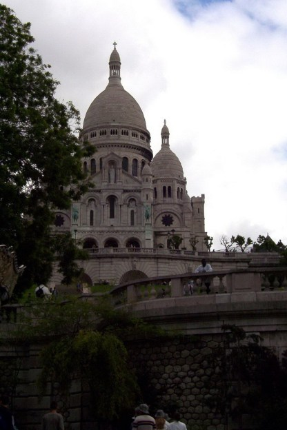 Basilique du sacre coeur - view from Place St-Pierre - Paris - France